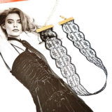 熱く新しく粋なハンドメイドのかぎ針編みの方法優雅で白いレースのチョークバルブのネックレス