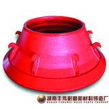L'usura di alta qualità parte l'alta fodera della ciotola del pezzo fuso d'acciaio del manganese