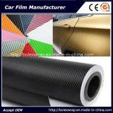 Vinile della fibra del carbonio di Price&Highquality 3D della fabbrica; Autoadesivo 1.52X30m dell'automobile dell'involucro dell'automobile