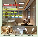 el panel de la luz de techo del doble 80 LED Commerical de los 600*600cm 40W CRI>80 abajo