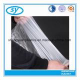 Sac plat de nourriture transparente en plastique de congélateur de HDPE/LDPE sur le roulis