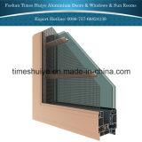 カスタマイズ可能な二重層のゆとりのガラスアルミニウム開き窓Windows