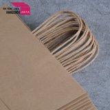 Sacco di carta stampato Cmyk del Brown del sacchetto di carta del regalo di formato di Meduim