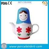 Japaness Nesting Doll 3PC Teapot Set