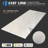 Pierre artificielle de quartz de Carrare pour la partie supérieure du comptoir/Slabn de cuisine avec la surface solide Polished/SGS/Ce (anti-corrosive)