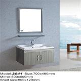 Шкафы раковины ванной комнаты нержавеющей стали высокого качества с зеркалом