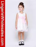 Principessa Sleeveless Wedding Flowergirl Dress dei capretti con l'arco