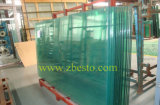 Tempered/прокатанная плоская панель стекла здания балкона поручня