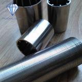 Filtro industriale dallo schermo dell'acciaio inossidabile 316L del collegare del cuneo di precisione per la separazione di solido liquido