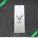 Hangtag di carta opaco bianco di marchio su ordinazione piacevole
