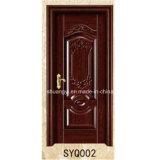 PVCは薄板にされた材木の内部の木製のドアに張り合わせた