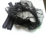 承認されるNonwoven使い捨て可能で黒いカラーモップの帽子のセリウム