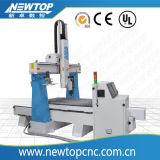 Router di falegnameria di CNC di asse del professionista 4 con l'unità rotativa