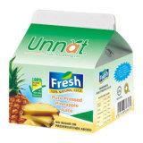 caixa da parte superior do frontão do iogurte 250ml com tampões