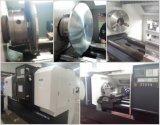 Máquina do torno do CNC do torno Ck6163 do CNC da base lisa