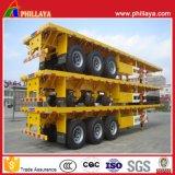 Cimc 3 반 축선 40-60tons 40FT 콘테이너 수송 평상형 트레일러 트레일러