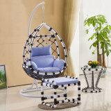 Balanço de suspensão da cadeira do ovo do Rattan barato popular da cadeira do balanço do Rattan do preço (D008)