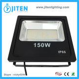 Nuovo tipo indicatore luminoso di inondazione sottile del LED con alloggiamento di alluminio, indicatore luminoso di inondazione esterno