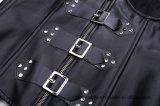 Corsé de cuero de la PU de Cupless con la ropa interior atractiva de las correas para las mujeres