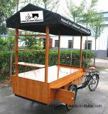 食糧およびジュースの供給のためのバイクのキオスク