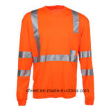 안전 t-셔츠 긴 소매 높은 시정 셔츠 사려깊은 안전 의류 안녕 힘 작업복 건조한 적합 직물