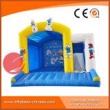 Springender Moonwalk kombiniert mit Plättchen-Schlag-Haus-federnd Schloss-aufblasbarem Prahler T3-150