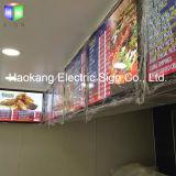 Menu en acrylique magnétique en aluminium Boîte à lumière LED pour panneaux de bière
