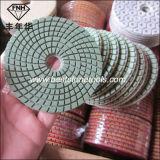 gewundener nasser Diamant-Polierauflage für Granit-Marmor-Stein-Beton