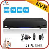 4 canales de Seguridad 1080P P2p Poe red NVR