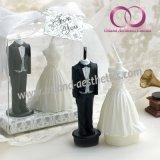 Шикарные вуаль венчания и свечка подарка Tux для любовников Wedding комплект подарка свечки искусствоа свечки