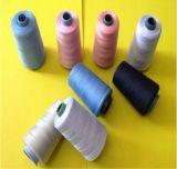 Ne 20/4 3000 tester per filato filato 100% del filato cucirino del poliestere di bianco del cono