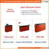 Terminal frontal 12V100AH batería con gel de Tecnología y terminales de acceso frontal