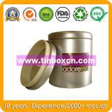 Barattolo di latta rotondo del tè con il commestibile