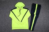 Mens uniforme Hoody marcado fato de desporto dos kit de treinamento do futebol do futebol do fato de desporto do clube do revestimento de Hoody do clube do futebol