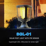Luz ao ar livre residencial 1W da coluna do diodo emissor de luz do jardim da paisagem
