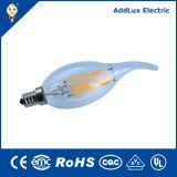 4W 6W 8W 10W E14 B22 que amortigua la lámpara de la vela del LED