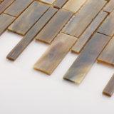 Materiale da costruzione decorativo di Backsplash del mosaico delle mattonelle di vetro italiane del nero
