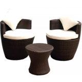 Neue Entwurf stillstehender Bereichs-Garten-Freizeit-Möbel sitzen Rattan-Nichtstuer-drehendem Sofa-Stuhl vor