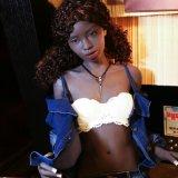 Muñeca negra realista del sexo de la muchacha del maniquí el 168cm del sexo del juguete de lujo del hombre plana