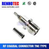 De Vrouwelijke Coaxiale Kabel RG58/RG59/RG6 van de Golfplaat van de Schakelaar TNC