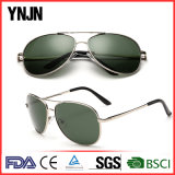 Les lunettes de soleil classiques de la CE UV400 en métal de Ynjn de vente chaude ont polarisé (YJ-A1031)