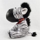 Giocattolo della peluche della zebra farcito abitudine