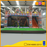 子供(AQ01512)のためのスライドとのインドのトーテムの膨脹可能なコンボ