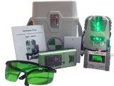 Livello verde del laser di fasci della fodera 5 del laser con il rivelatore del laser della Banca di potere