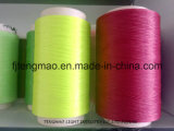fio verde do Polypropylene de 450d/64f FDY para a matéria têxtil