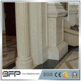 Pilar/columna de mármol amarillentos imperiales para la construcción de cinco estrellas del proyecto del hotel