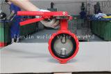 Управляемая рукояткой клапан-бабочка Demco места дуктильного чугуна резиновый (D71X-10/16)