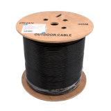 Cabo ao ar livre do gato 6 UTP Cable/LAN/cabo 0.56mm PVC+PE de cobre da rede