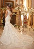 2017 vestidos de casamento nupciais frisados 5471 do laço