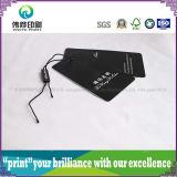 Étiquette de papier de luxe de coup d'impression (noir, plastique)